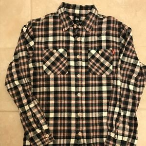 STUSSY Long Sleeve Heritage Button up Flannel